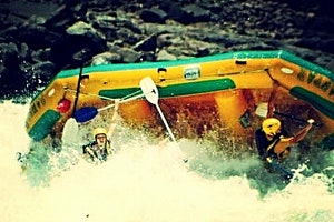 Rafting on the Zambezi River near Victoria Falls