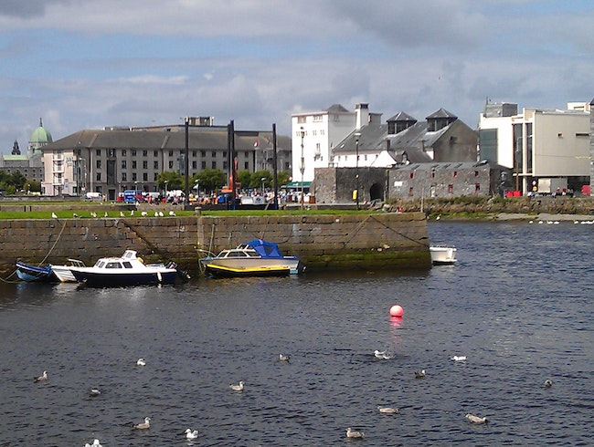A rare sunny moment in Galway.