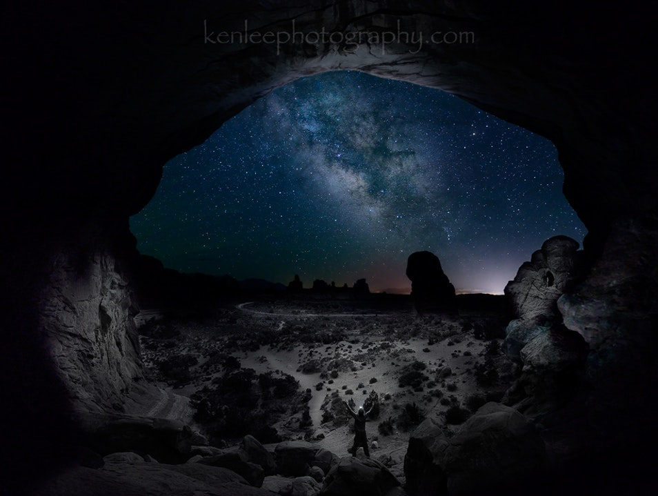 The Milky Way at Arches National Park - see it!!!!! Moab Utah United States