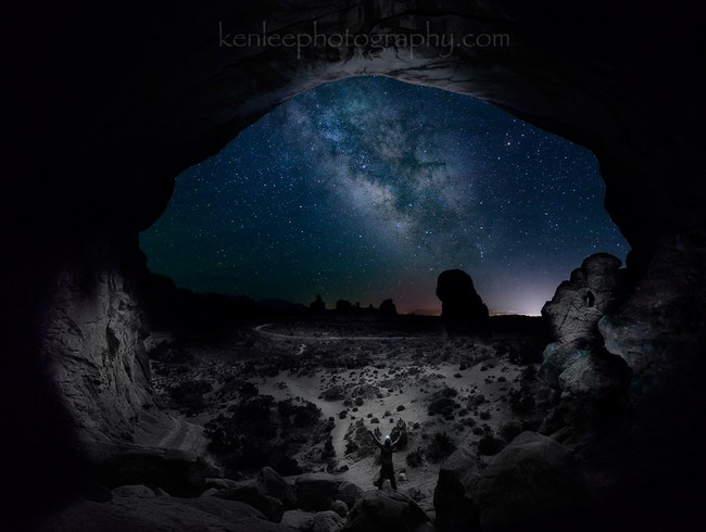 The Milky Way at Arches National Park - see it!!!!!