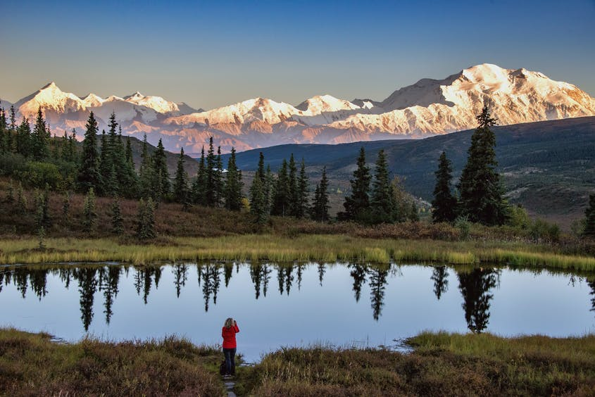 Guests at Camp Denali have a view of Denali, when it shows itself.