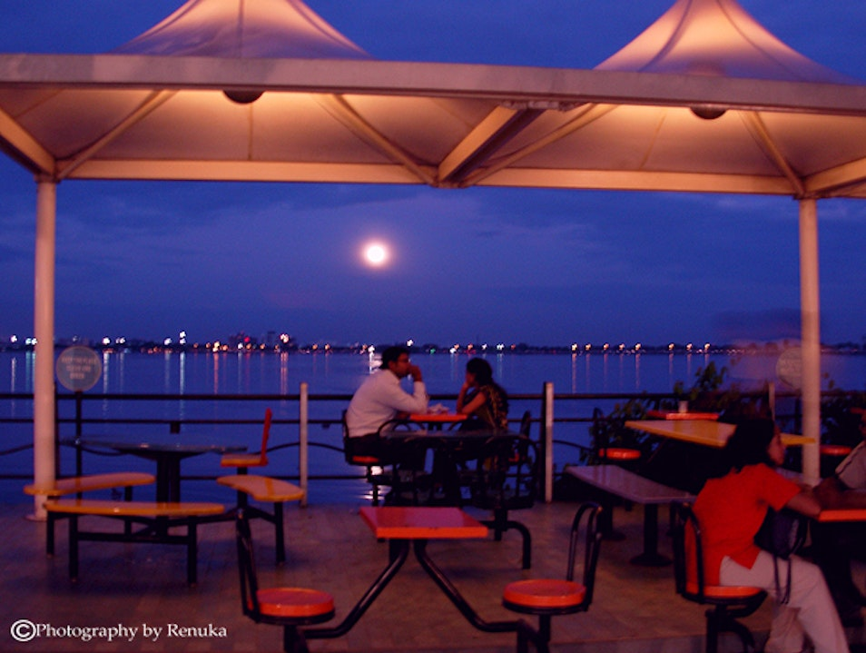 Twilight Romance At Hussain Sagar Lake Hyderabad  India