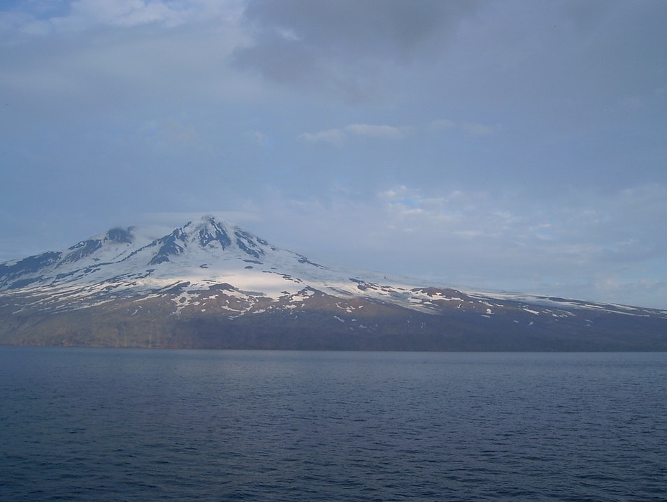 Passing island Jan Mayen Jan Mayen  Svalbard and Jan Mayen