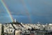 Double rainbow over Coit Tower San Francisco California United States