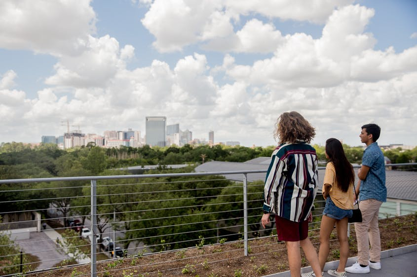 Another work of art? The cityscape view of Houston from the Glassell School of Art's rooftop