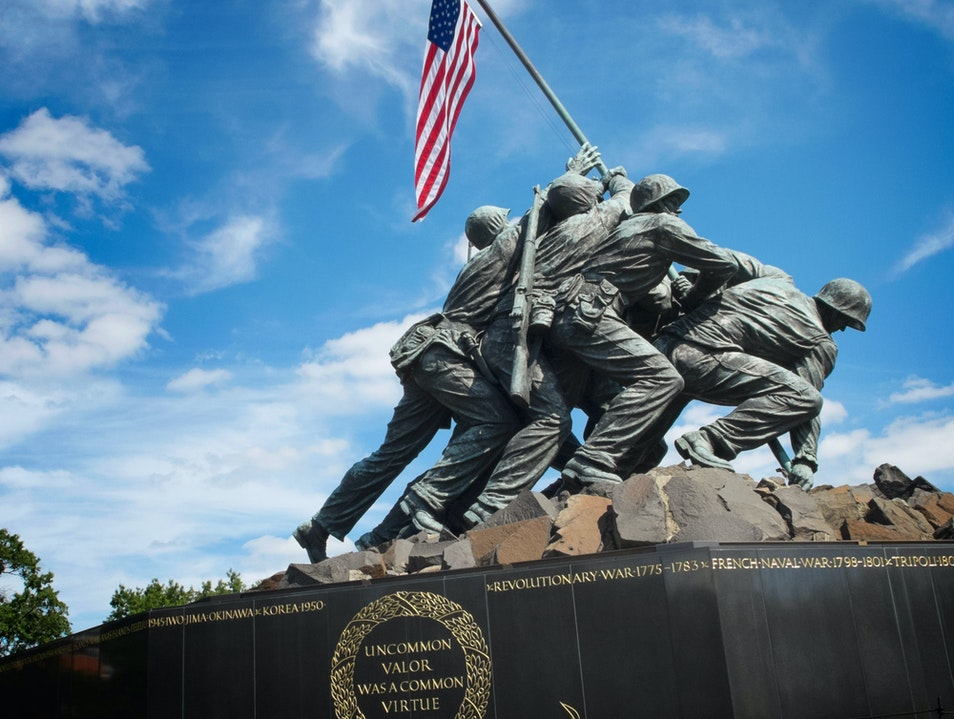 The Iconic U.S. Marine Corps War Memorial Arlington Virginia United States