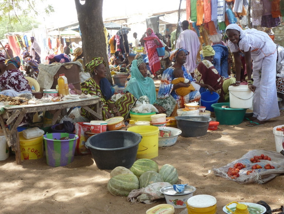 Market Day in Mpal Mpal  Senegal