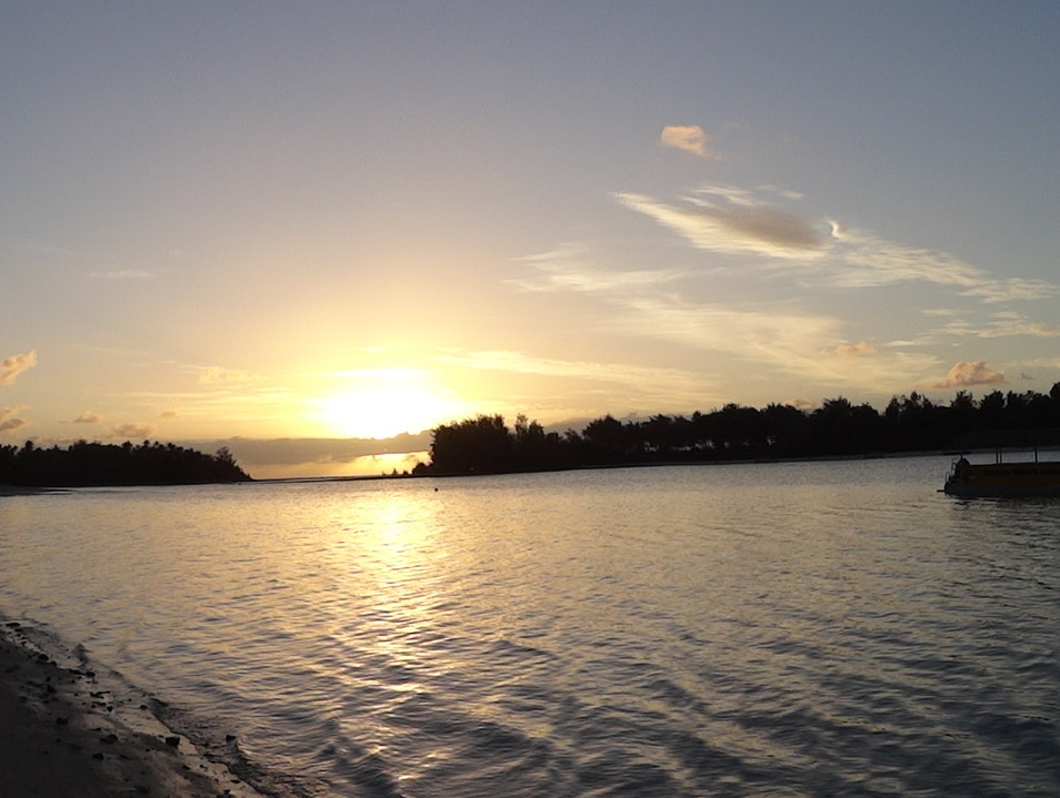 Sunrise at Muri Beach Ngatangiia District  Cook Islands