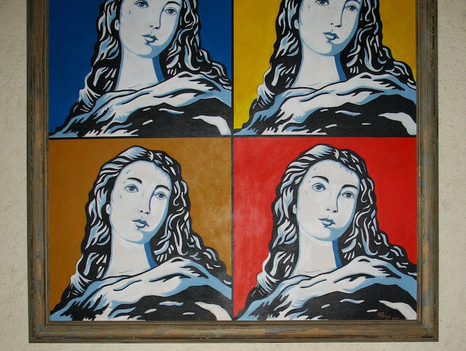Unlikely art: Mary à la Warhol in a former convent León  Nicaragua