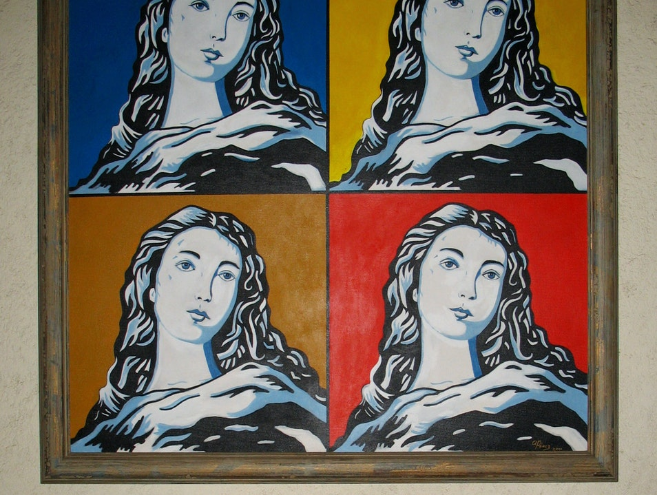 Unlikely art: Mary à la Warhol in a former convent
