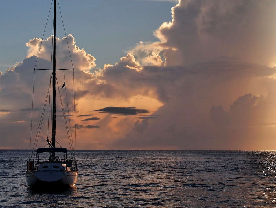 Sunset over St. Lucia