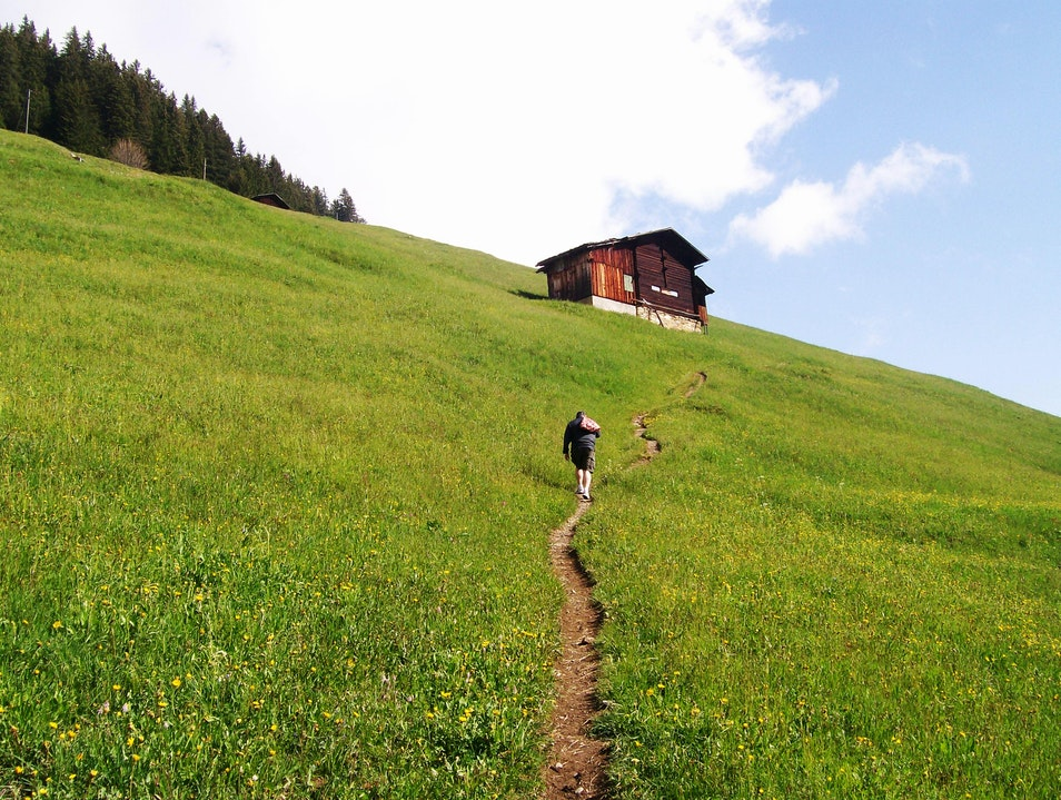 Hiking Above Gimmelwald