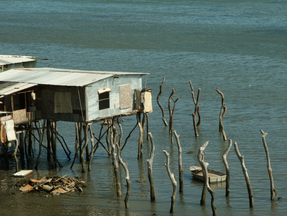 Stilt houses in Hanuabada Port Moresby  Papua New Guinea