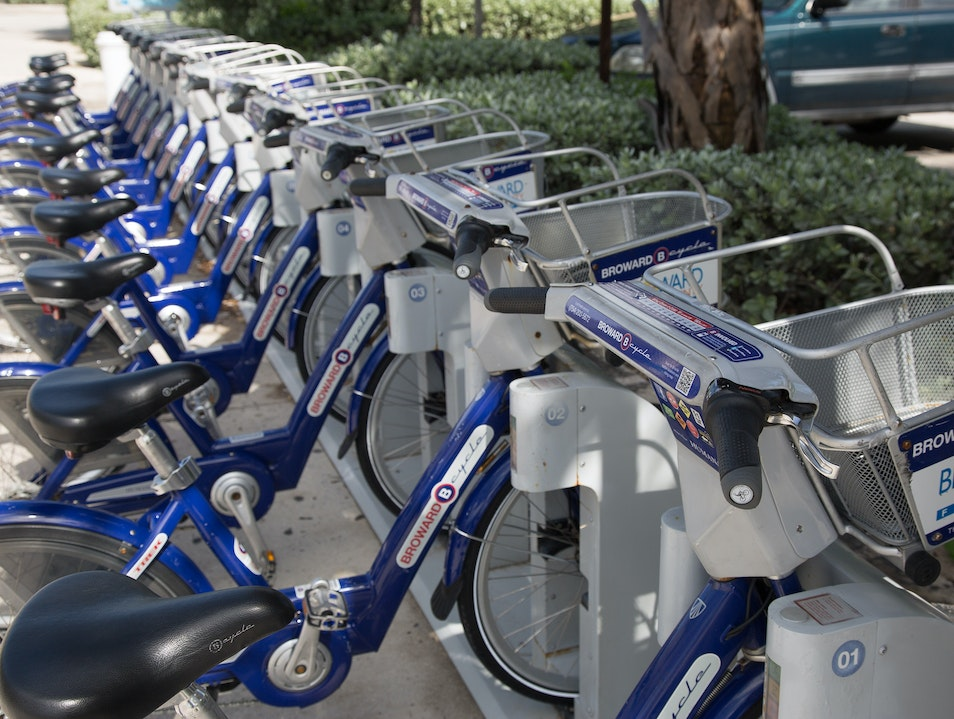 Rent a Broward B-cycle Fort Lauderdale Florida United States