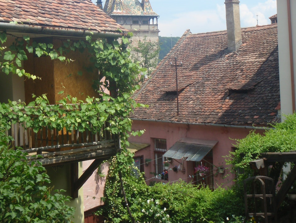 Quaint Romanian village  Sighișoara  Romania