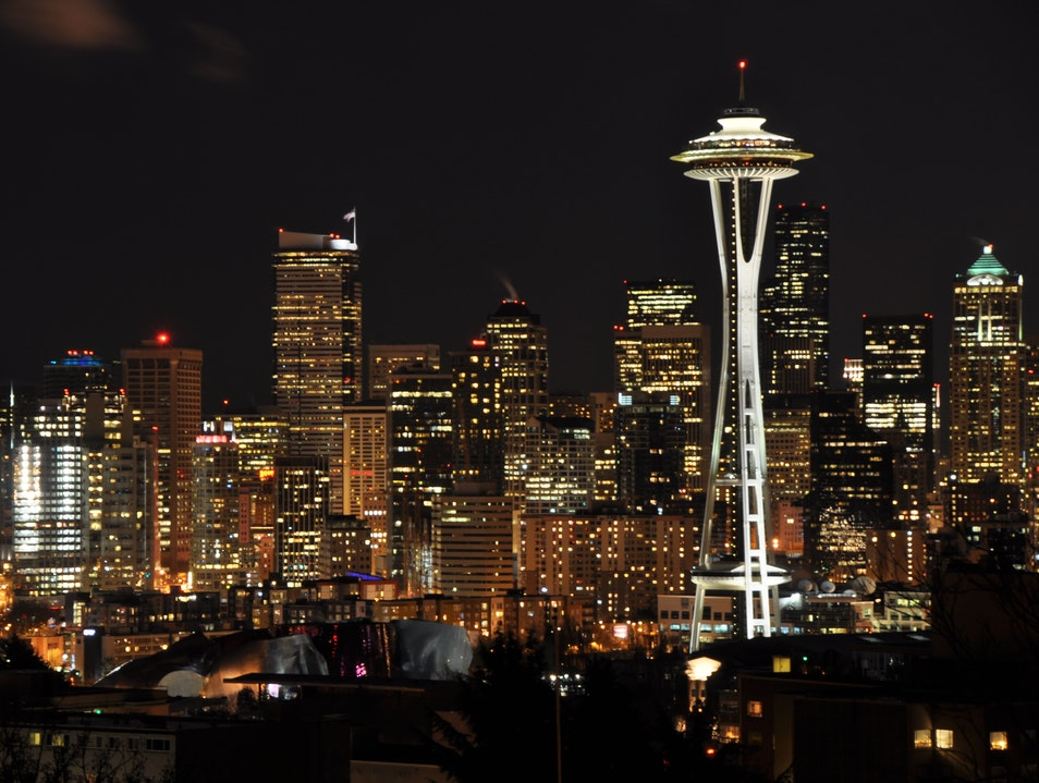 All Lit Up Seattle Washington United States