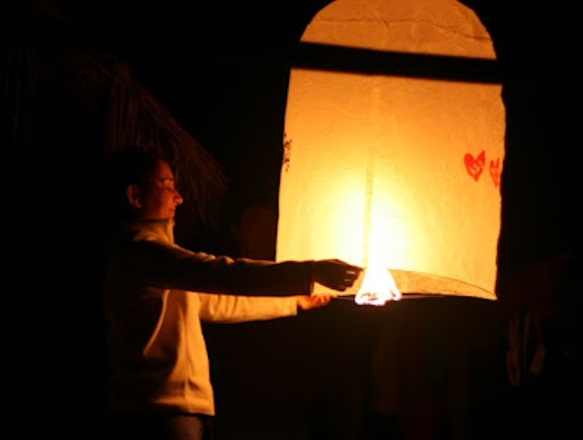 Learning how to release a paper lantern
