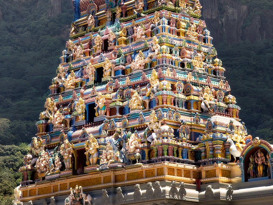 only Hindu temple in Seychelles....