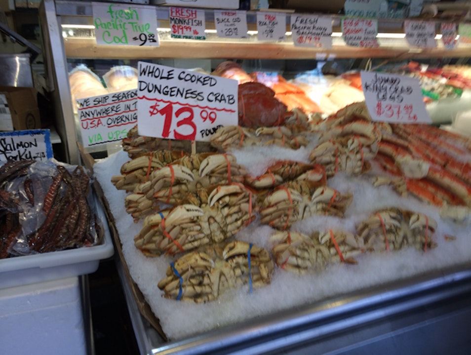 Crabs At Pike Place Seattle Washington United States