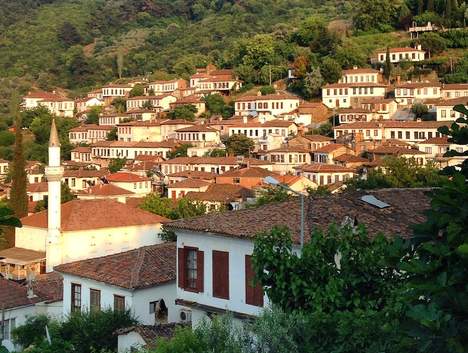 A little village to enjoy a glass of wine and a sunset.  Şirince  Turkey