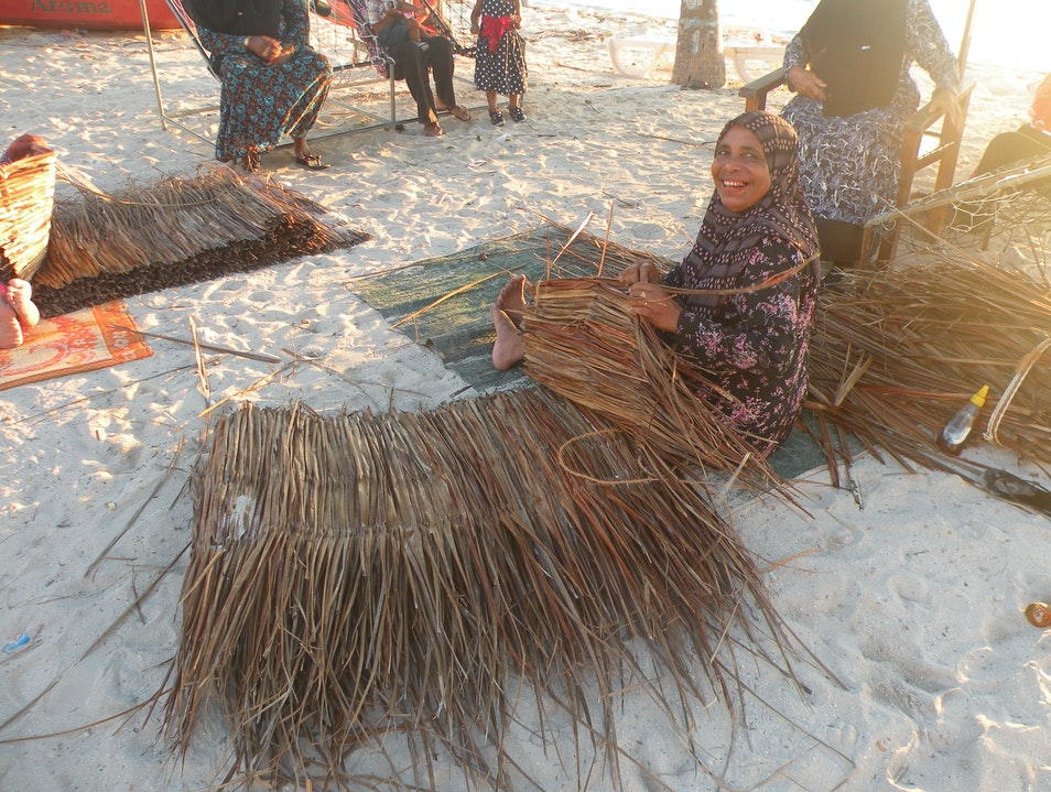 Basketry on Dhangethi Island in Maldives Dhangethi  Maldives
