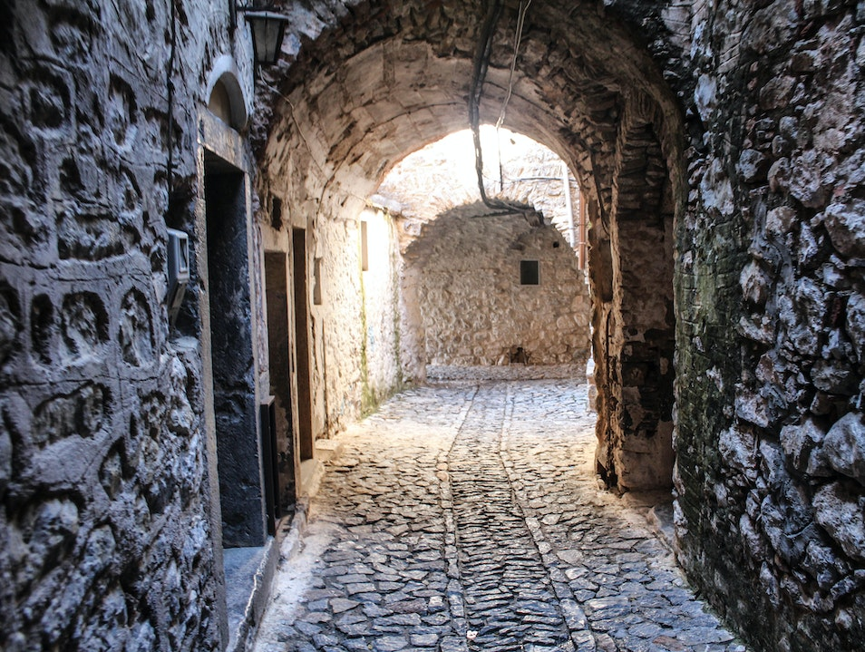 A Preserved Fortress Town in the Middle of Chios Mestá  Greece