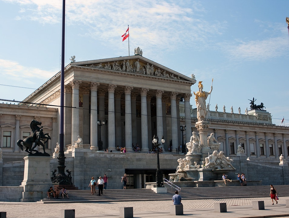 The Austrian Parliament Building Vienna  Austria
