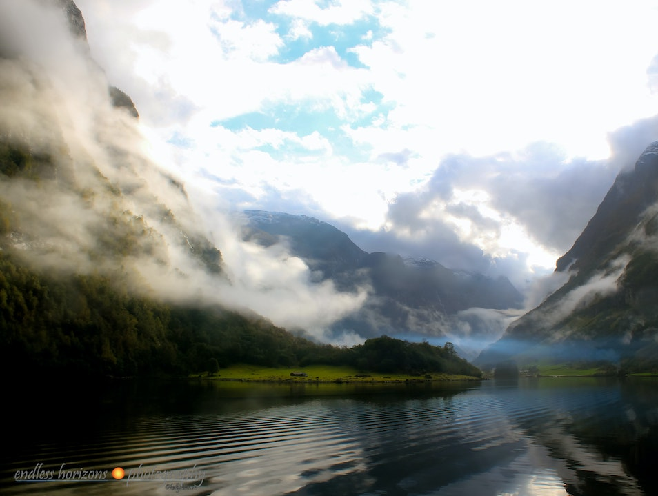 As the Clouds Part...Norway  Aurland  Norway
