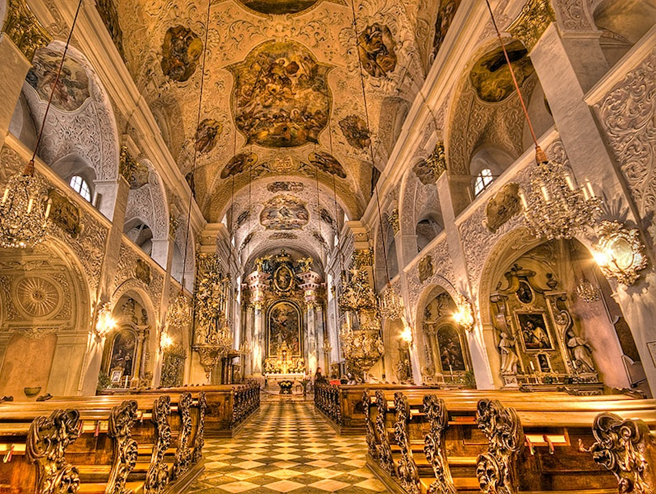 Klagenfurt's St. Peter and Paul Cathedral Innere Stadt  Austria