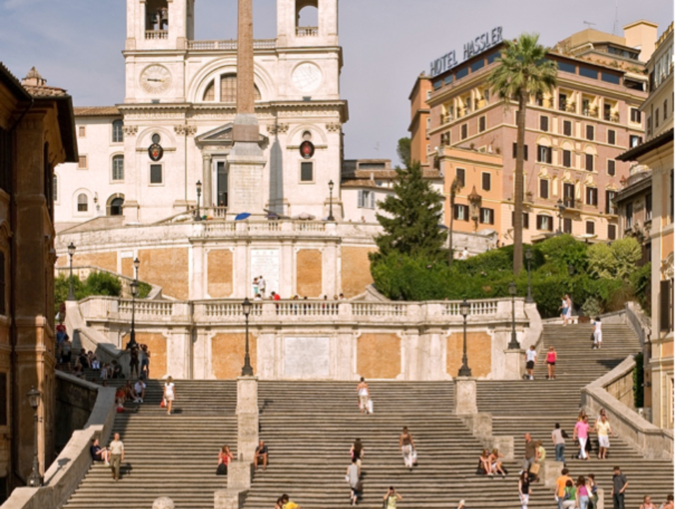 People-Watching from the Spanish Steps
