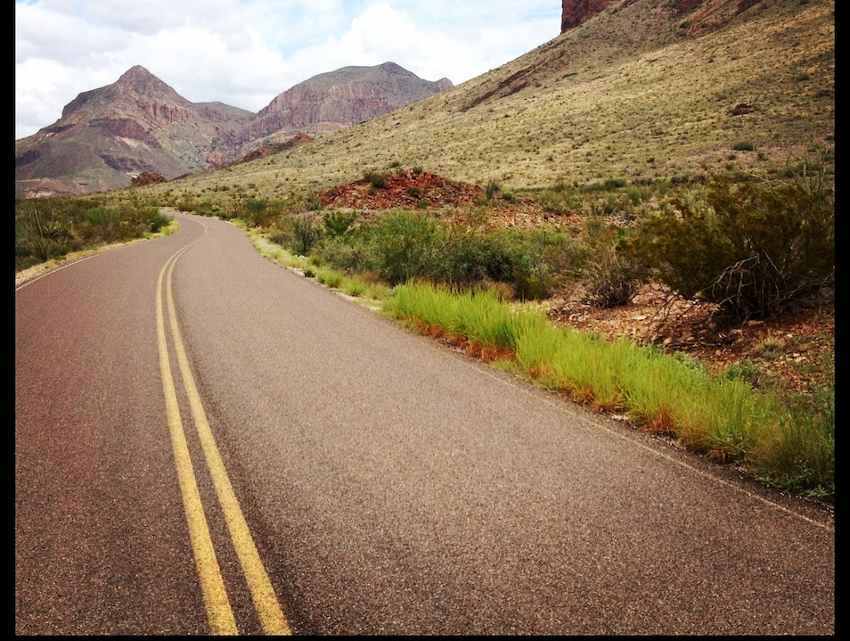 Big Views on the Road Bike in Big Bend Big Bend National Park Texas United States