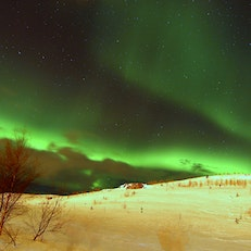 Aurora Borealis just outside Akureyri, Iceland