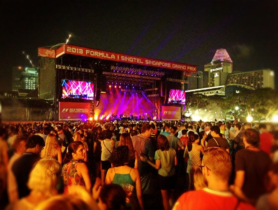 F1 Concert in the Padang Singapore  Singapore
