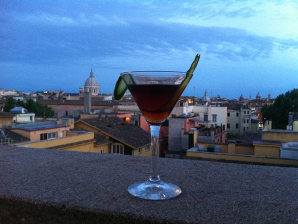Aperitivo with a view Rome  Italy