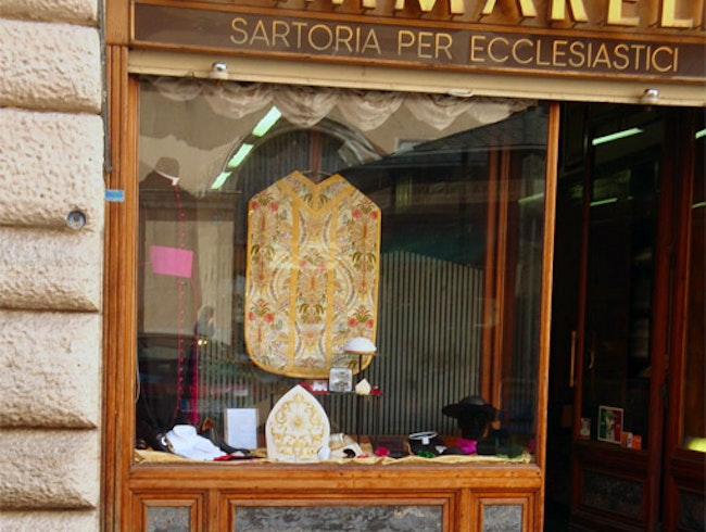 Pope's tailor in Rome