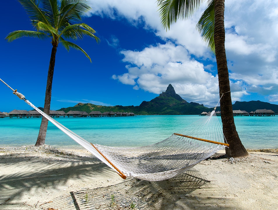Sipping Coconut Water While Laying on This Hammock Bora Bora  French Polynesia