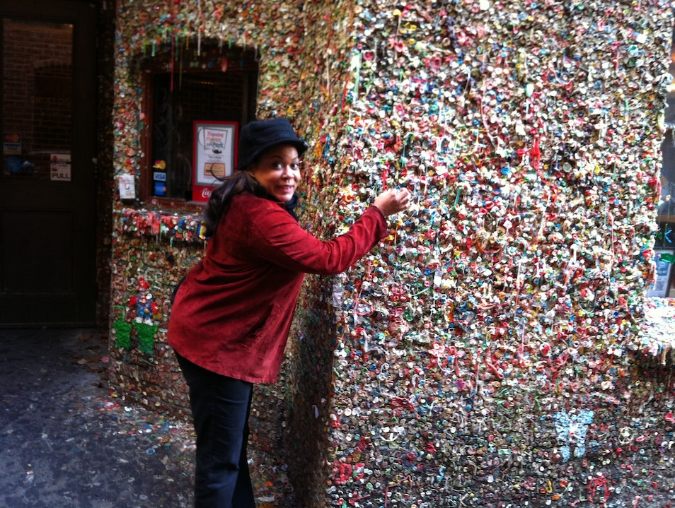 Gum Wall...check Seattle Washington United States