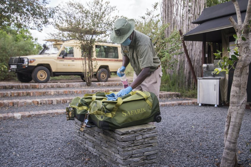 Micato Safaris takes COVID precautions seriously, requiring (and providing) PCR tests and frequently sanitizing gear and camps.