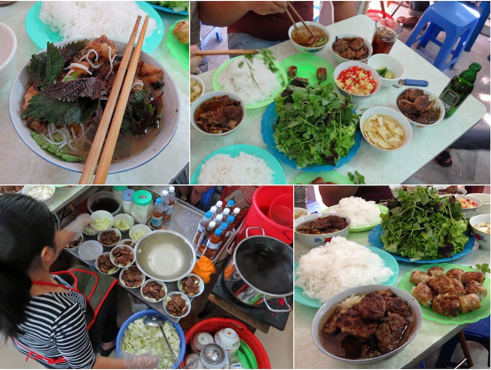 Bún cha — a tableful of smoky, tangy, herbal, sweet Hanoi  Vietnam