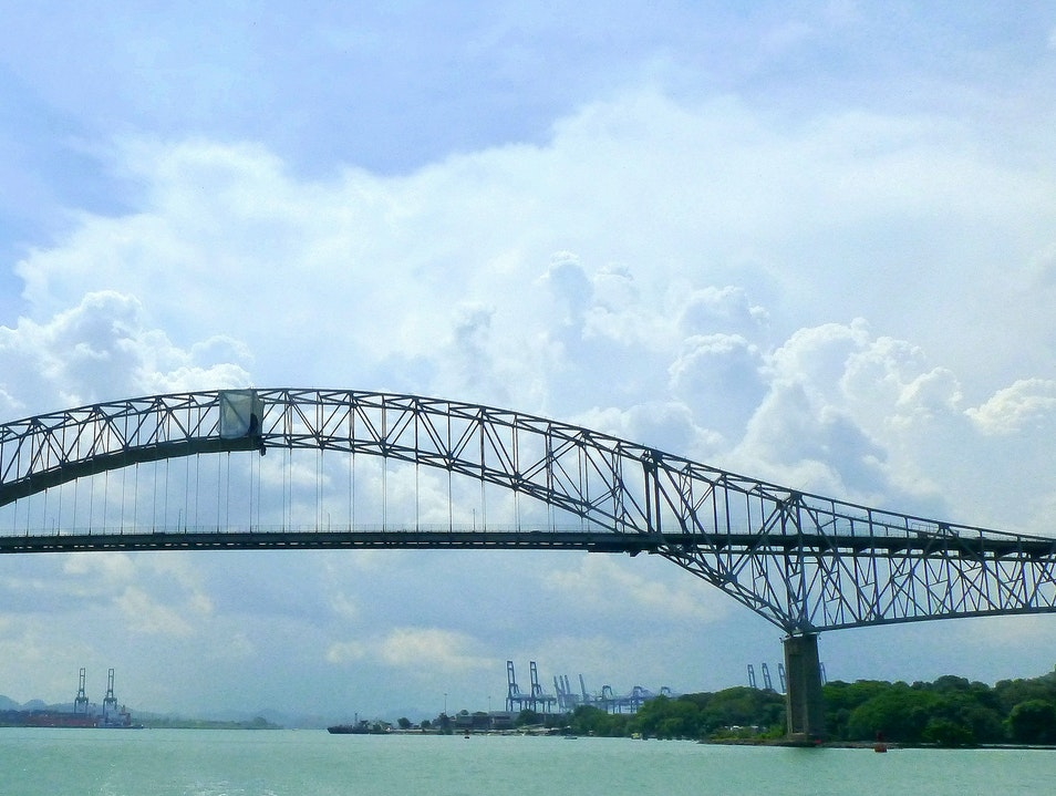 Drive Over the Bridge of the Americas Panama City  Panama