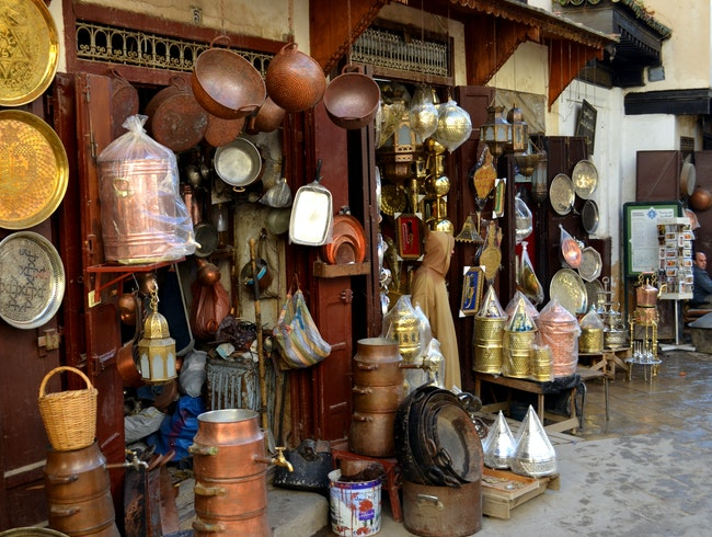 Shopping for Metal in Fes