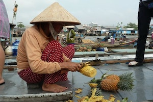 Cai Be floating market, Mekong Delta