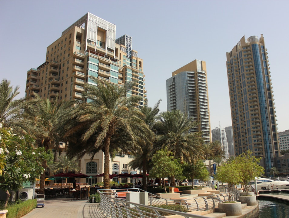 Walking Along Water's Edge in Dubai Dubai  United Arab Emirates