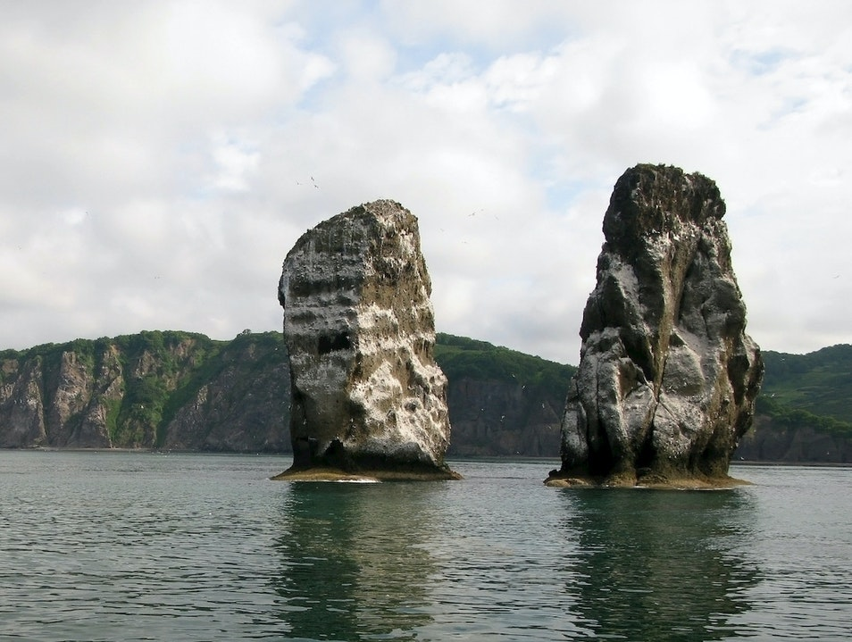 Three Brothers Rocks Yelizovsky District  Russia
