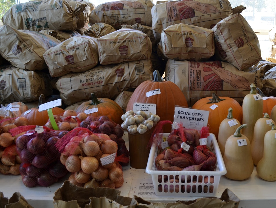 Overflowing with seasonal produce from Ile D'Orleans Quebec  Canada