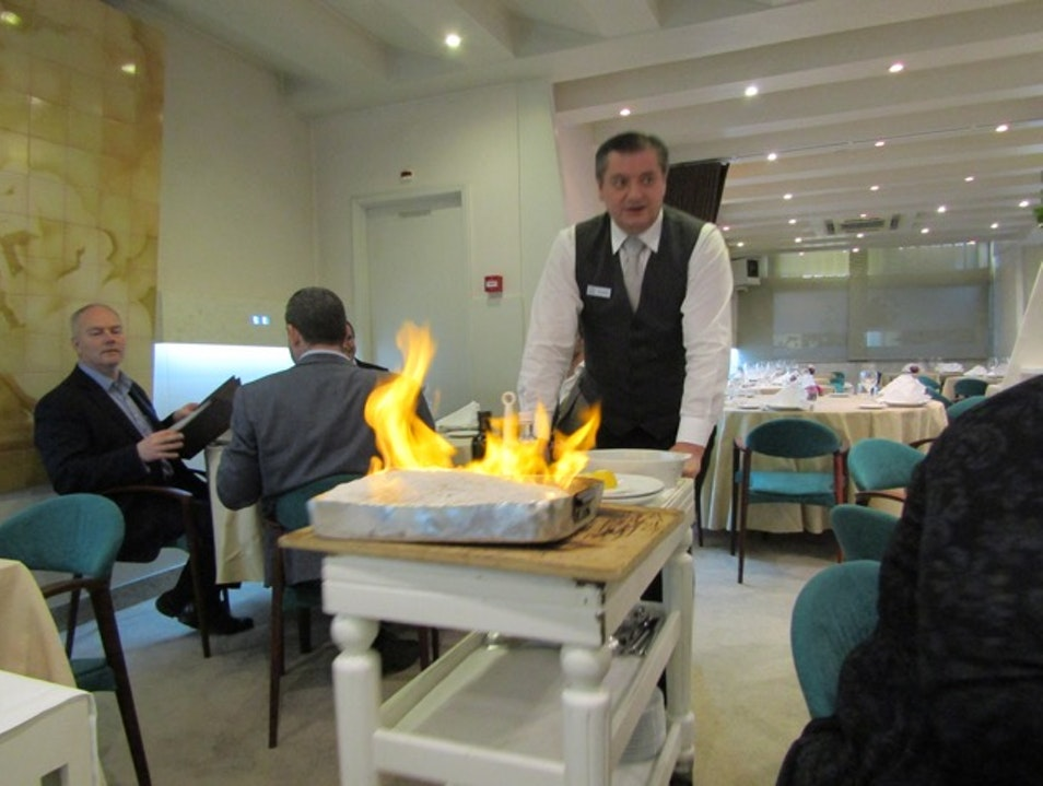 Flaming fish and fresh seafood in Matosinhos Port
