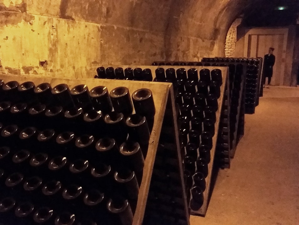 Miles of Chalk Caves Where Champagne Ages Reims  France