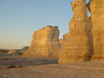 Monument Rocks National Natural Landmark Grinnell Kansas United States