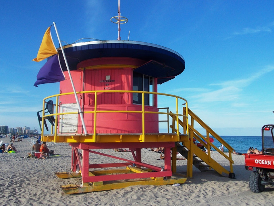 Where lifeguards chill Miami Beach Florida United States