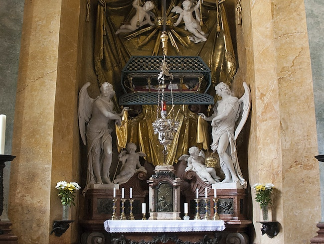 The adoration chapel in St. Martin's Cathedral